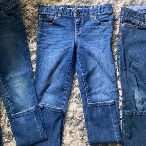 3 gap skinny jeans